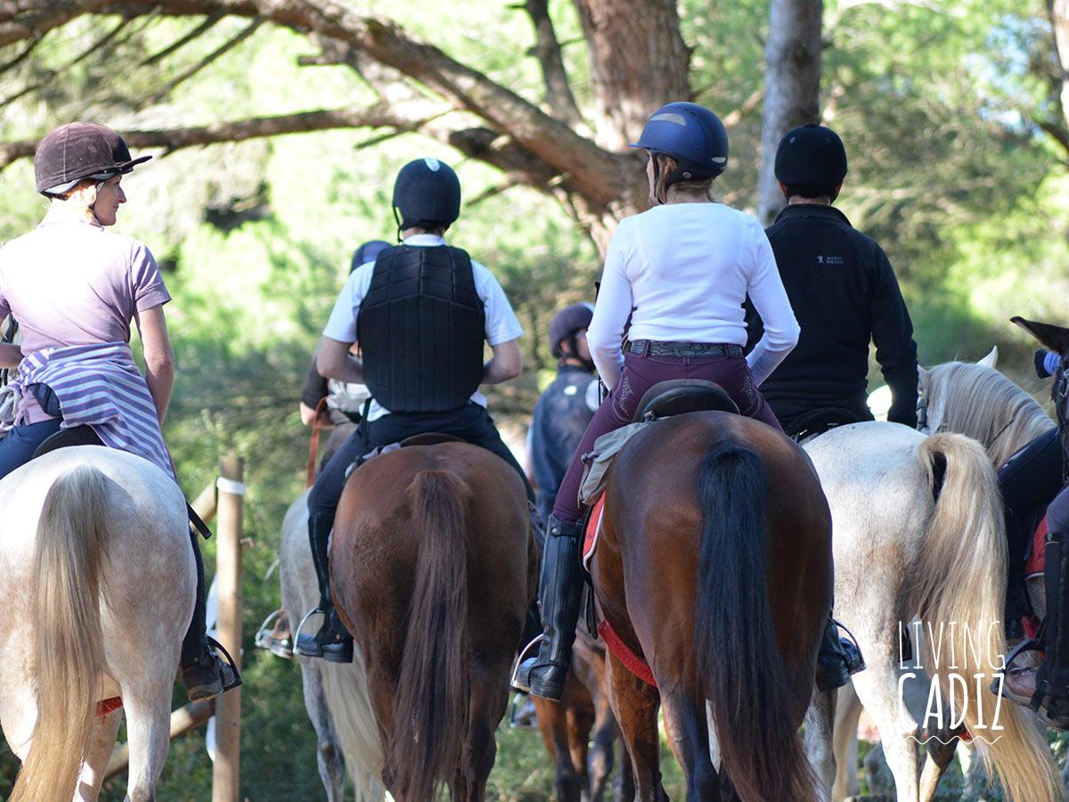 Paseo a caballo en Costa de la Luz