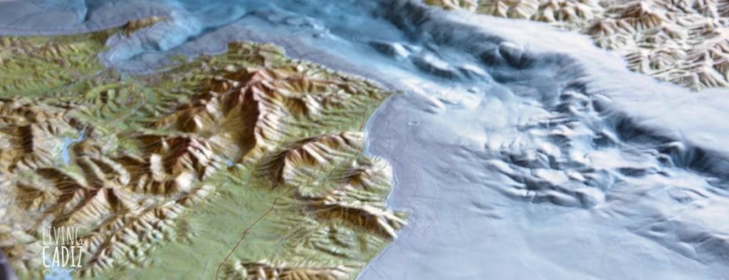 Mapa 3d estrecho de Gibraltar y tarifa