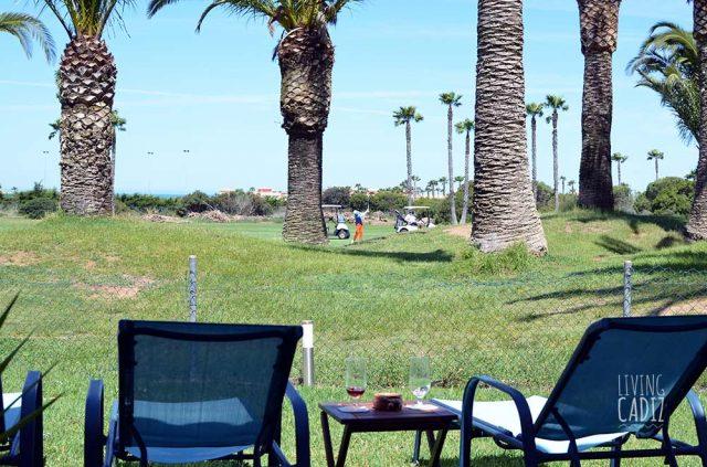 Jardin con vistas al campo de golf