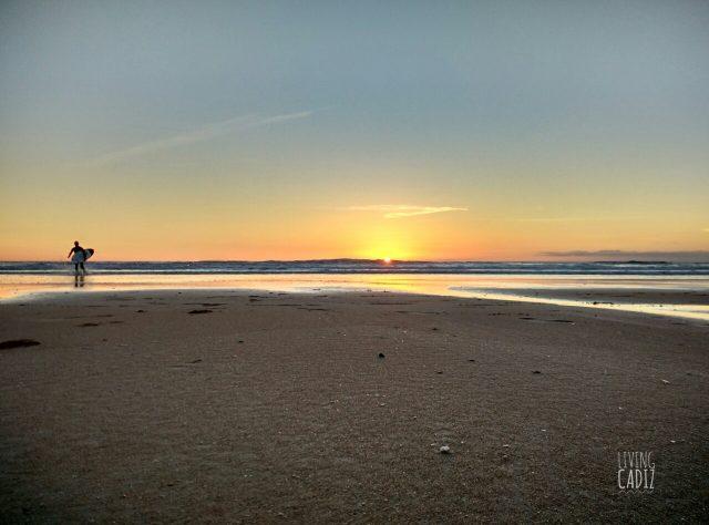 Atardecer en la playa de El Palmar